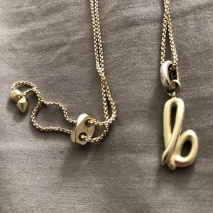 KS necklace with B charm
